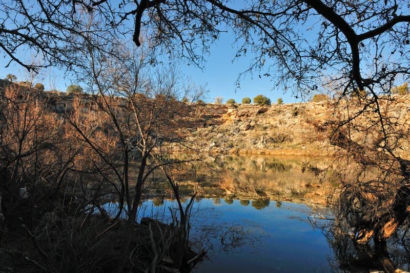 Lake in Arizona desert stock images