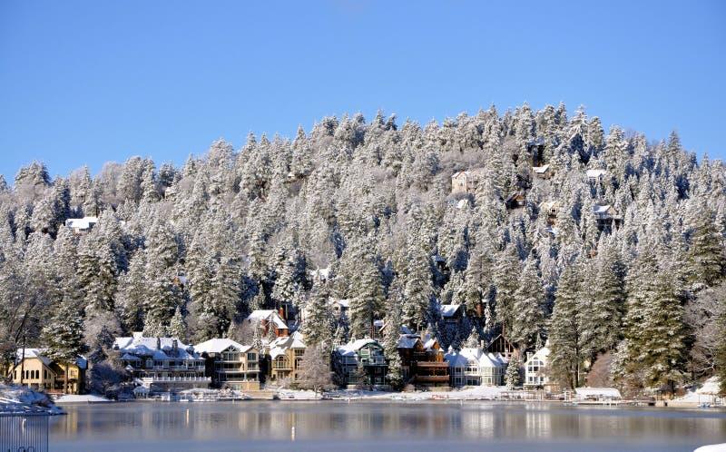 Lake Arrowhead. Winter image at lake Arrowhead, California stock images