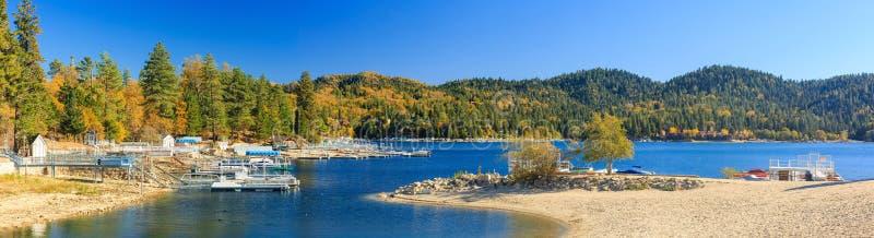 Lake Arrowhead. At Autumn with blue sky stock photo