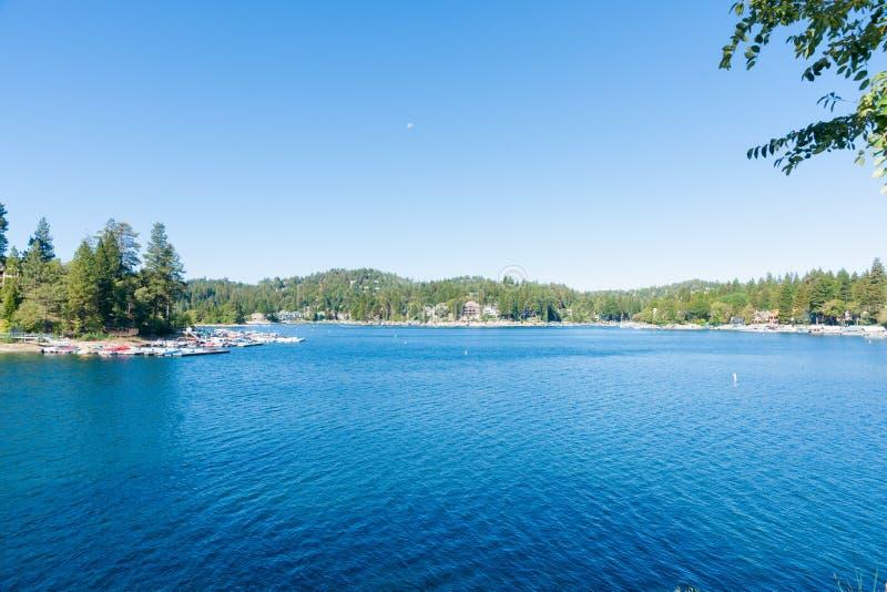 Lake Arrowhead, California. Scenic Lake Arrowhead resort village California USA stock image