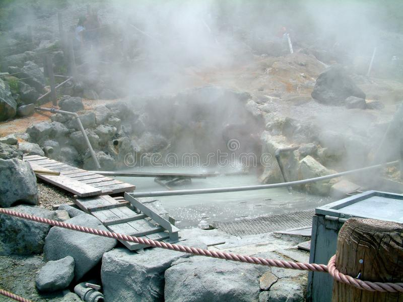Lake Ashi Hot Springs Japan stock photo