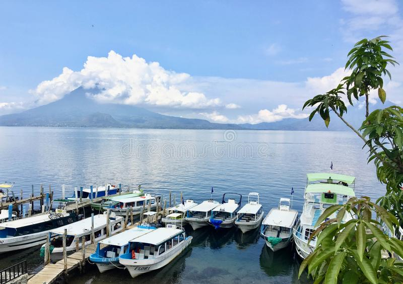 Lake Atitlan, Guatemala - May 20th, 2018: A spectacular view of royalty free stock images