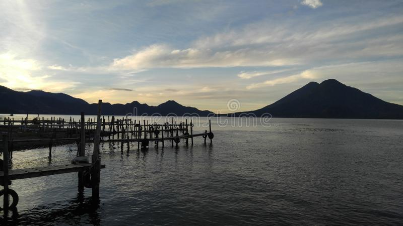 Lake Atitlan royalty free stock photo