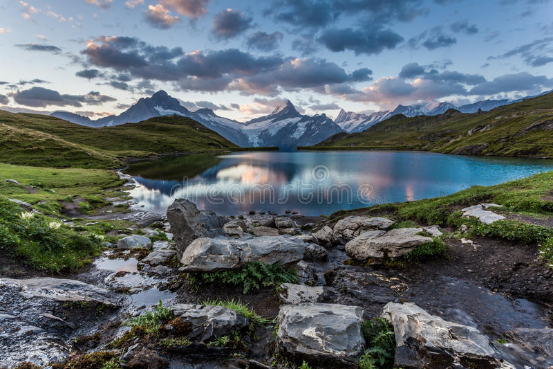 Lake Bachalpsee in the Morning royalty free stock photo