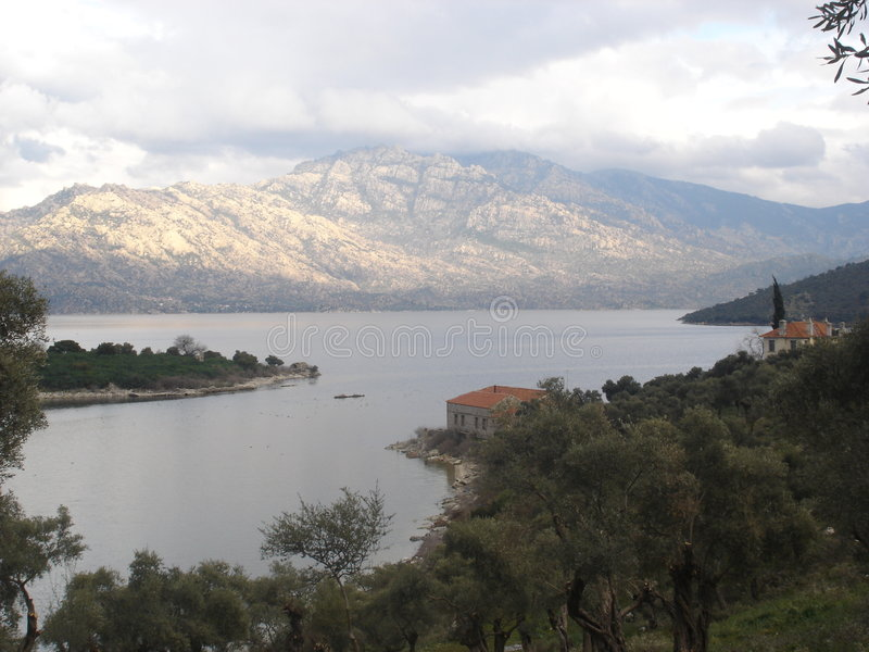 Lake Bafa, Turkey stock photo
