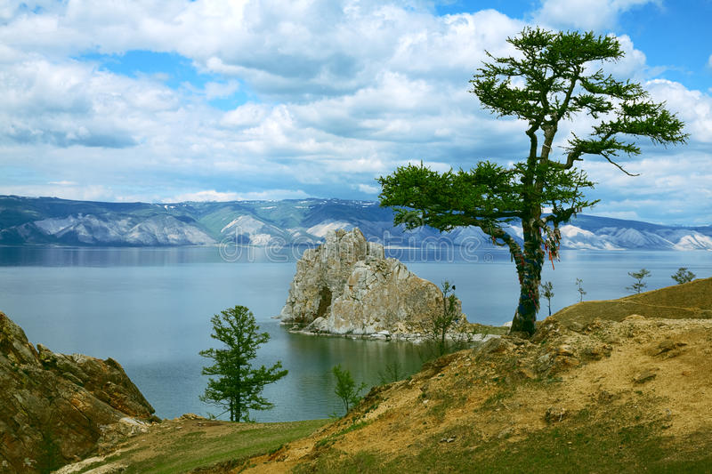 Lake of Baikal. Nature lake of Baikal with mountain