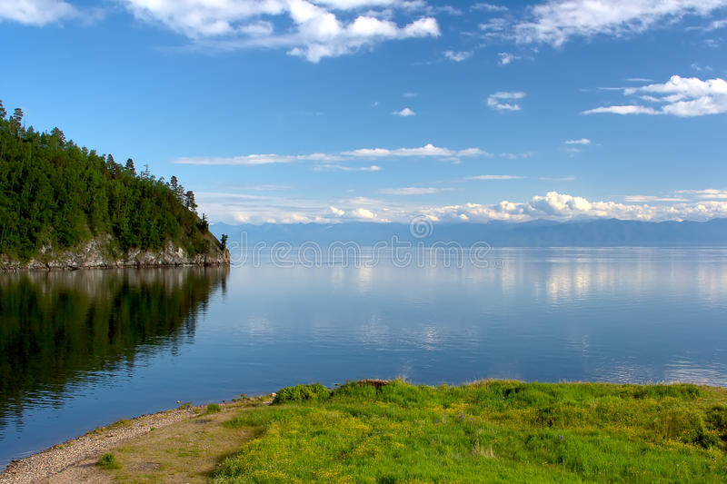 Lake Baikal. Coastline. Siberian Nature royalty free stock image