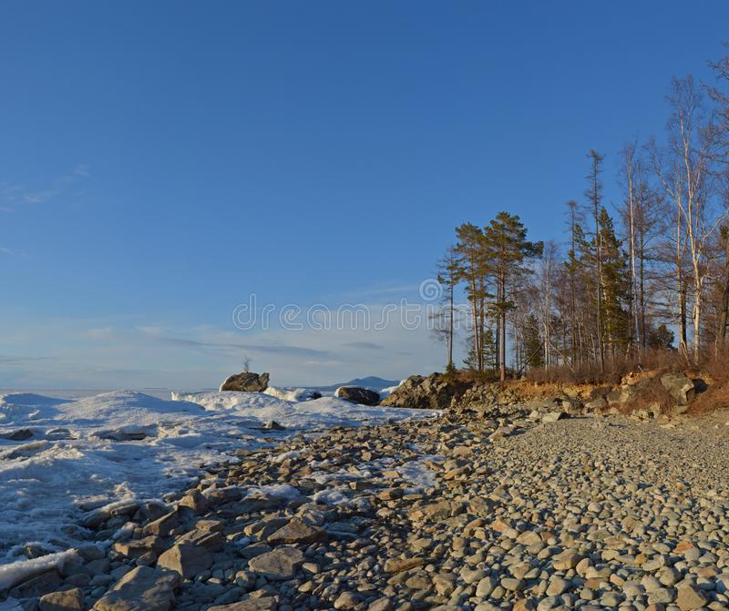 Lake Baikal, Eastern Siberia, Russia, winter 2 stock image