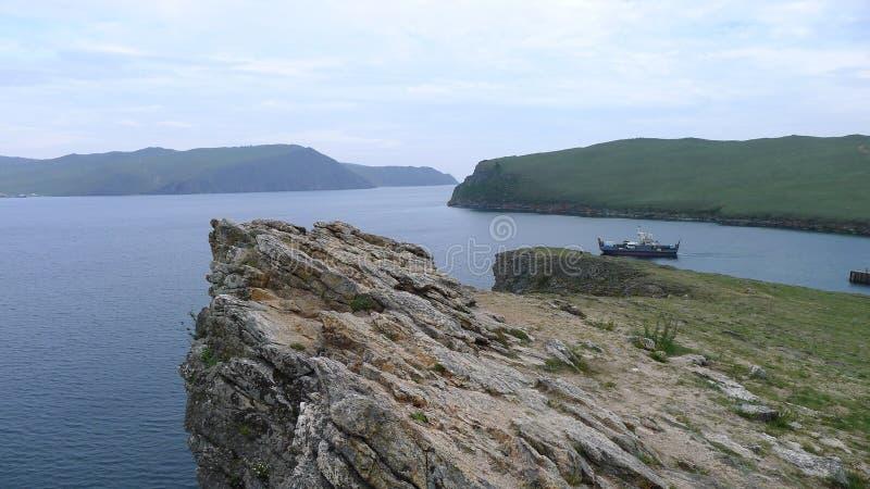 The lake Baikal stock photo