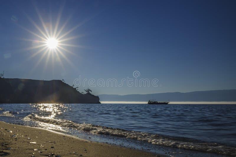 The lake Baikal. Summer,the biggest and clean Lake Baikal stock photography