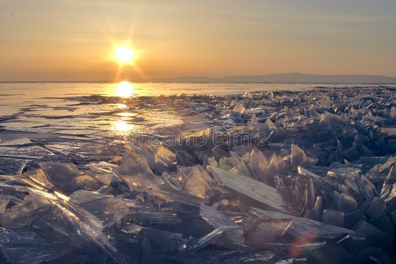 Lake Baikal in winter. stock image