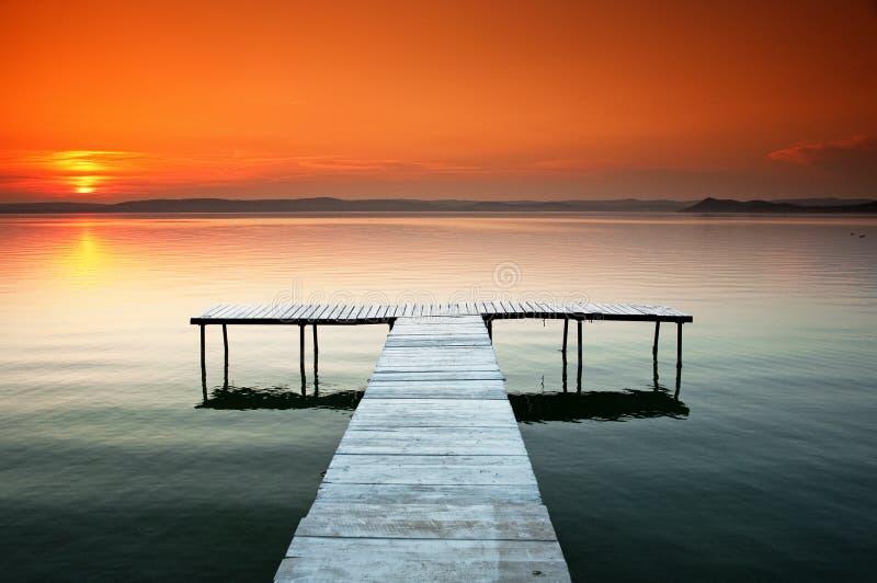 Download Lake Balaton stock photo. Image of sunset, pathway, evening - 19938840