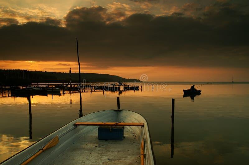 Lake Balaton stock photo
