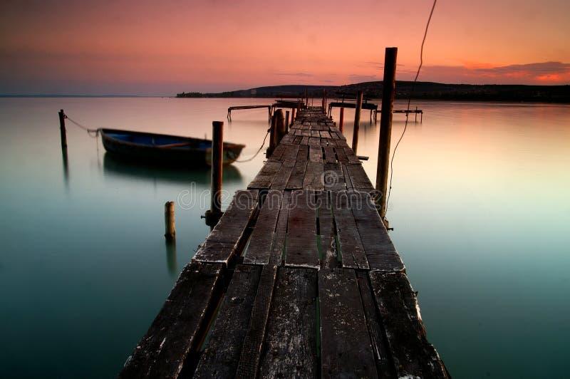 Lake Balaton. Hungary,Beach of Balatonfűzf royalty free stock photo