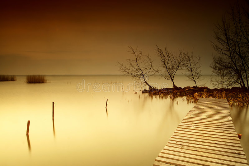 Lake Balaton. Hungary,Beach of Balatonfűzf stock photos