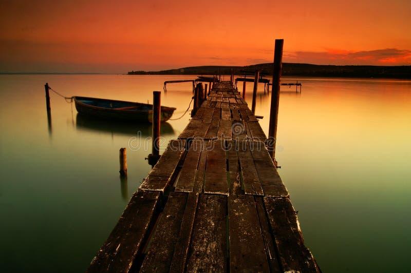 Lake Balaton. Hungary, Beach of Balatonfűzf stock photo