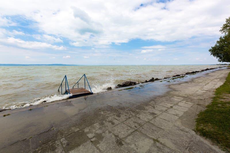 Lake Balaton, freshwater lake in Transdanubian, Hungary, largest lake in Central Europe royalty free stock images