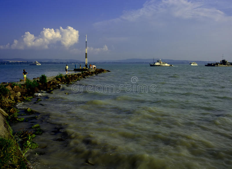 Lake Balaton,Hungary stock images