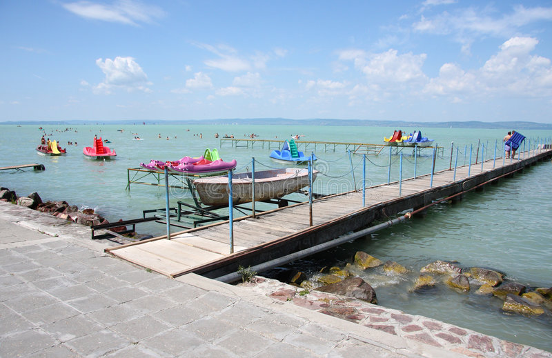 Lake Balaton in Hungary royalty free stock photo