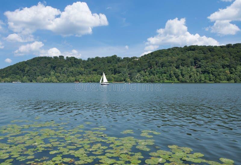 Lake Baldeneysee,Essen,Ruhrgebiet,Germany. At Lake Baldeneysee in Essen,Ruhrgebiet,North Rhine westphalia,Germany royalty free stock photo