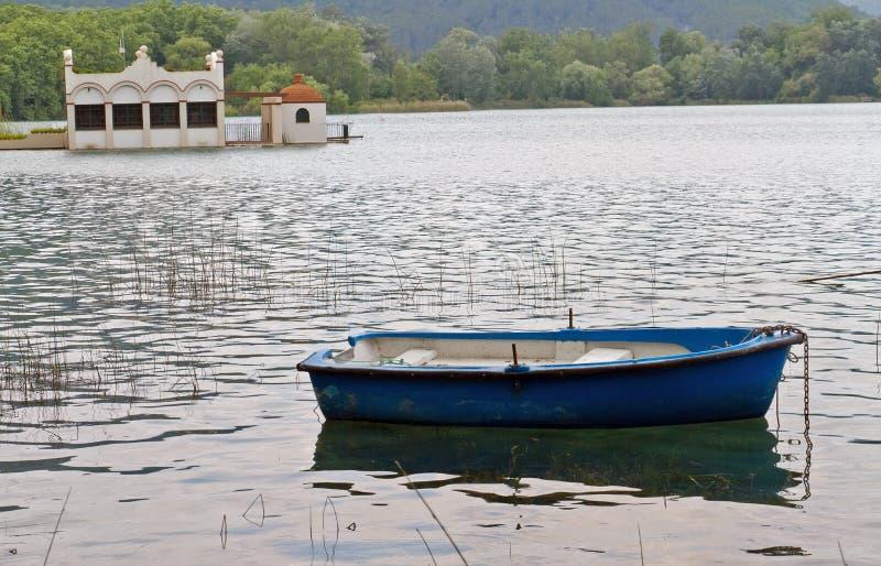 Lake Banyoles, Spain. Catalan natural lake in Gerona stock photos
