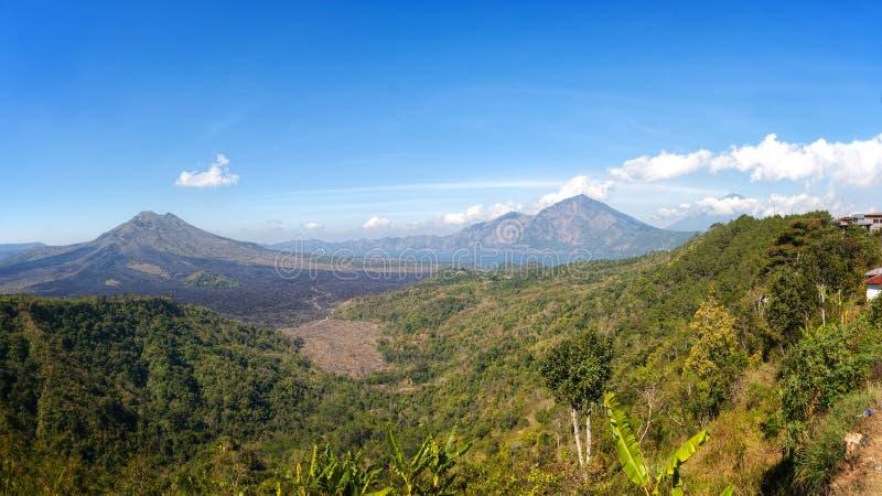 Lake Batur, Bali, Indonesia. Lake Batur from Hill near Kintamani Village, Bali, Indonesia stock image