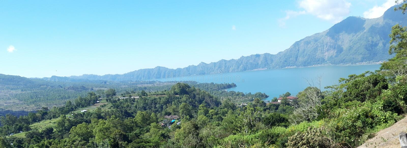 Lake batur bali indonesia. Tourism royalty free stock photos