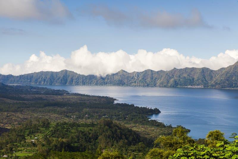 Lake Batur Kintamani. Lake Batur in the crater of the volcano, Indonesia, Bali royalty free stock photo