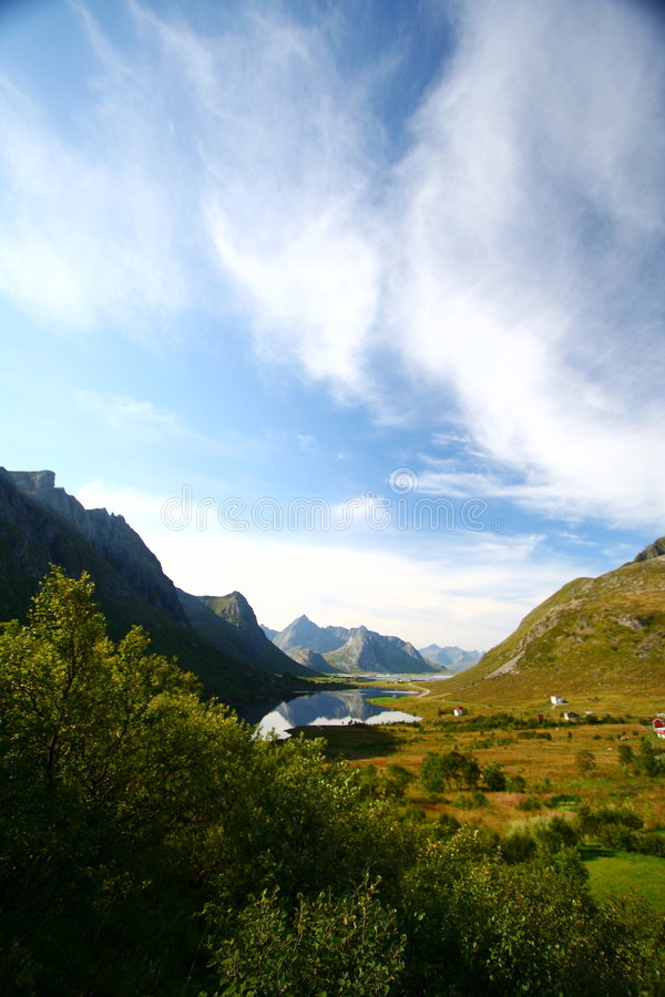 Lake and beautiful sky stock photos