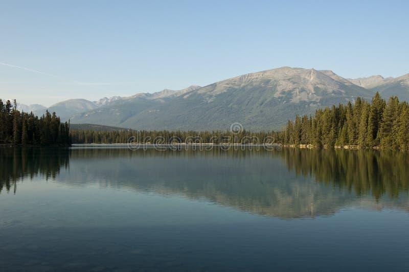 Lake Beauvert, Jasper, Alberta, Canada royalty free stock photo