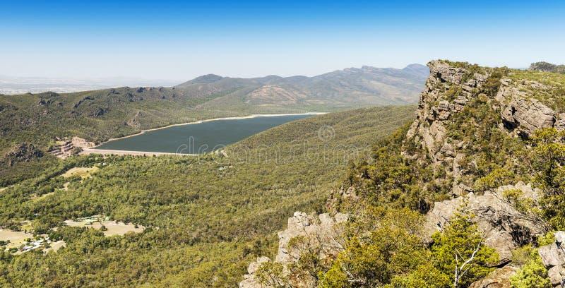 Lake Bellfield Grampians. Lake Bellfield in the Grampians National Park, Victoria, Australia stock photography