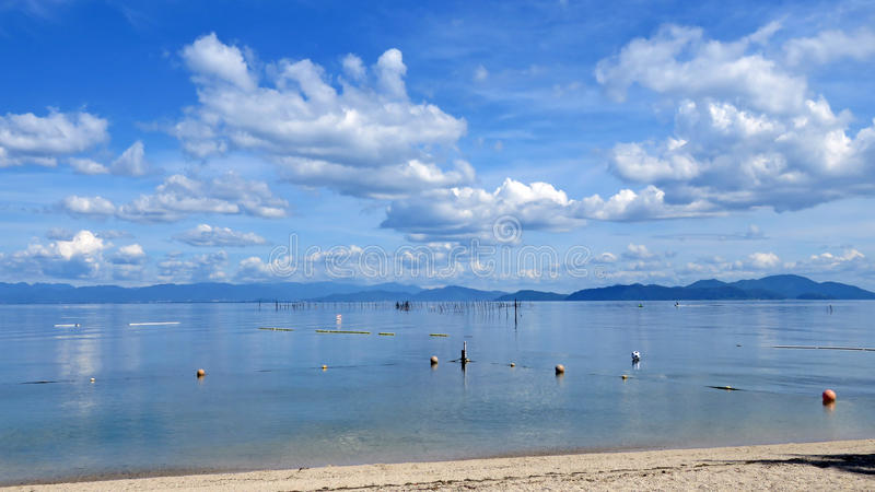 Lake Biwa em Japão fotografia de stock royalty free