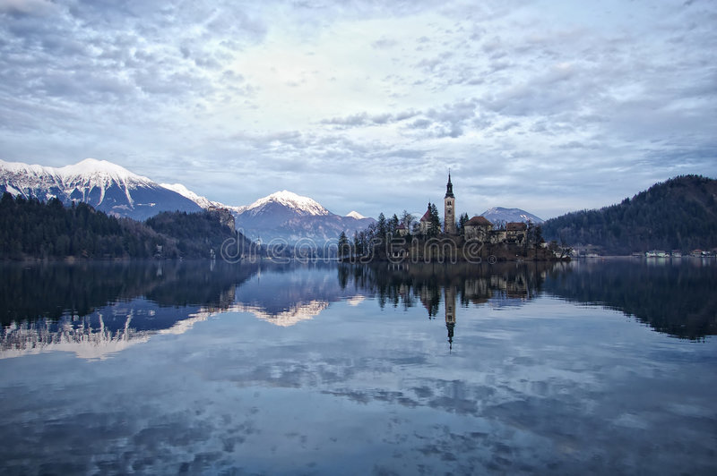 Download Lake Bled stock image. Image of bled, coniferous, plants - 4094425