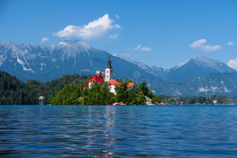 Lake Bled, Alps, Slovenia, Europe. Summer scenery stock photo
