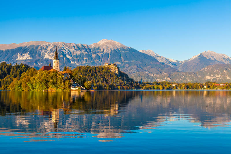 Download Lake Bled, Slovenia stock image. Image of castle, copyspace - 27444995