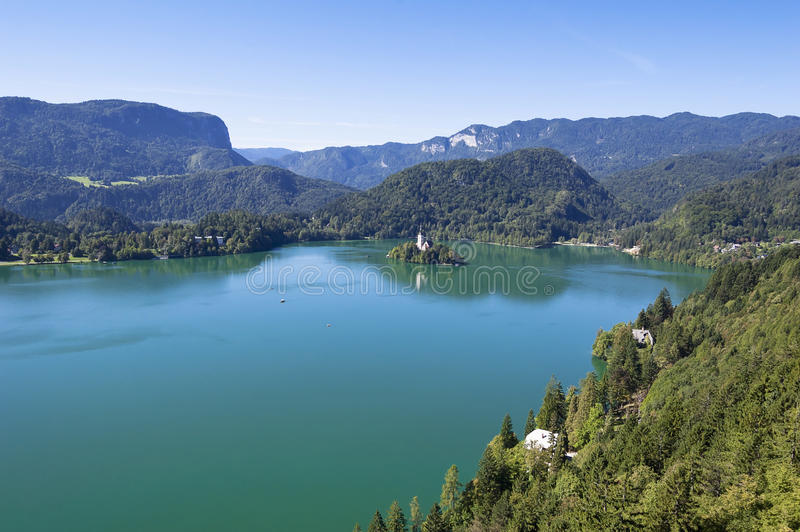 Lake Bled Slovenia. In Summer - Popular Tourist Destination royalty free stock image