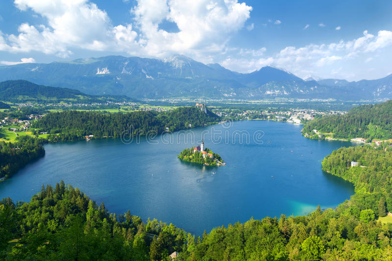 Lake Bled in Slovenia stock image