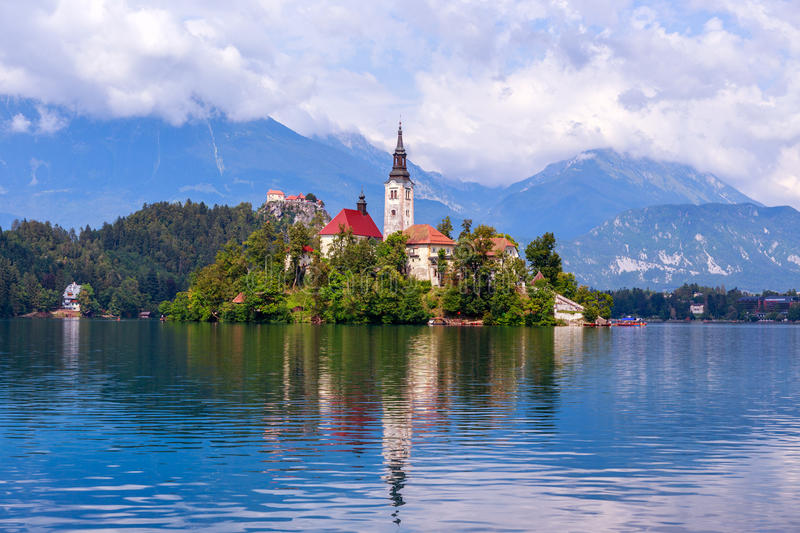 Lake Bled in summer royalty free stock image