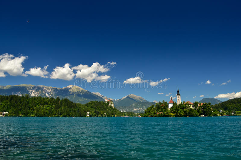 Lake Bled in summer, Slovenia royalty free stock image