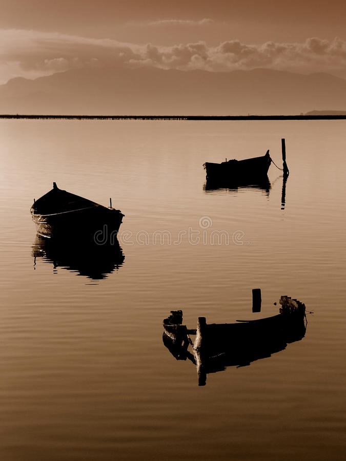 Lake boat royalty free stock image