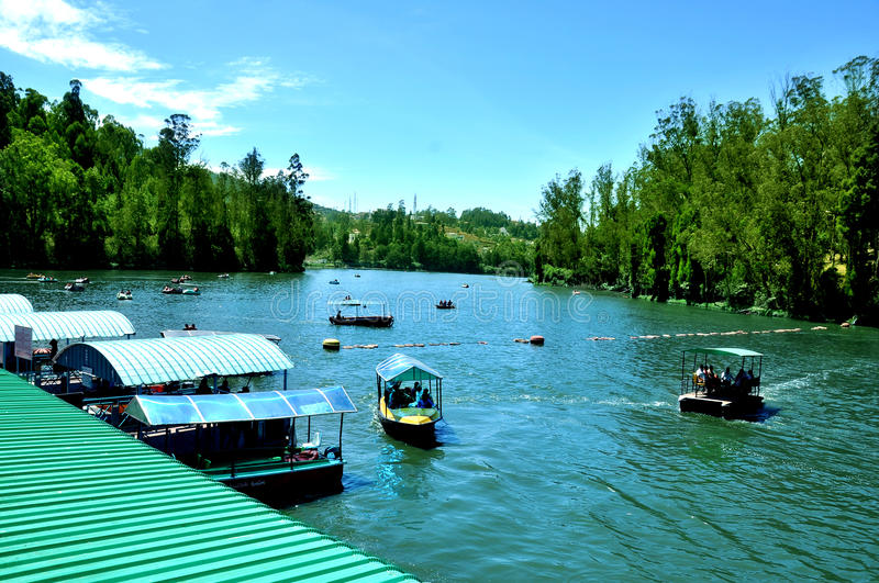 Lake and boating places. Camera shot on ooty lake and boating places stock photography