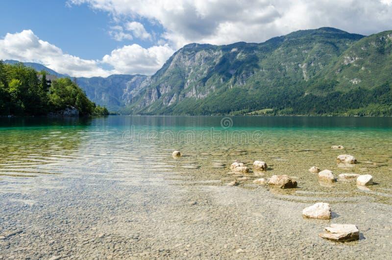 Lake Bohinj (Bohinjsko jezero), Slovenia royalty free stock photography