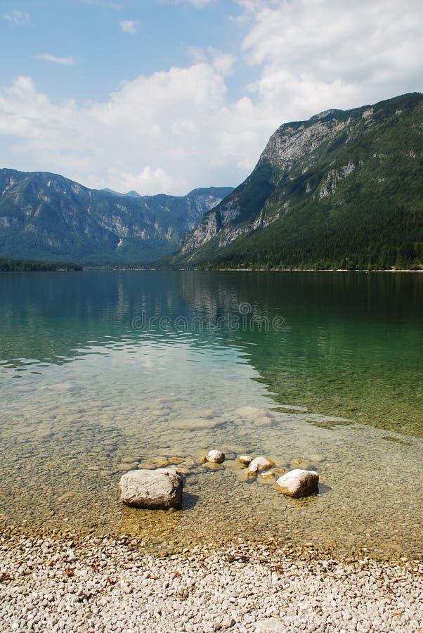 Lake Bohinj Shore Stock Photo