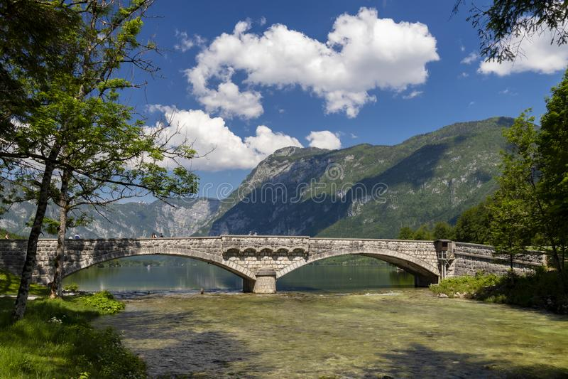 Lake Bohinj in Triglav national park, Slovenia royalty free stock photos
