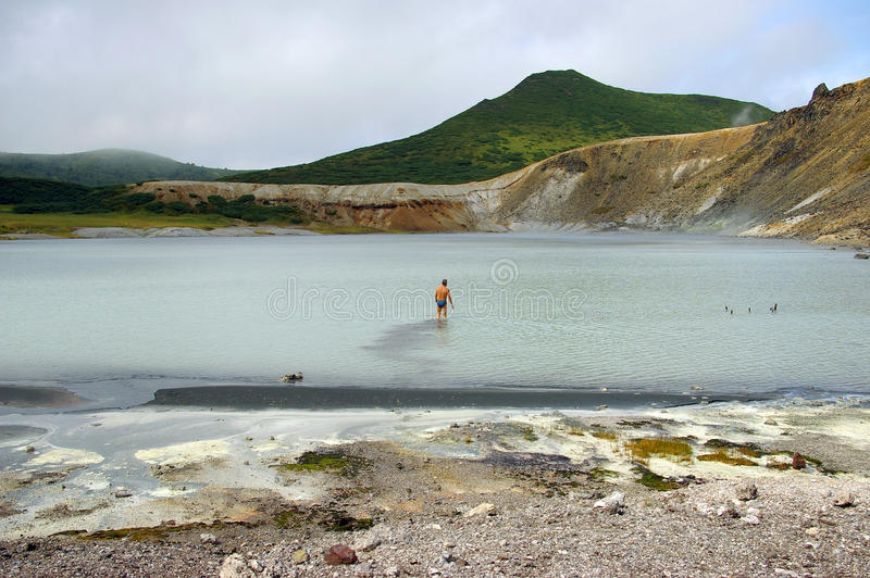 Download Lake Boiling stock photo. Image of people, geological - 11464066
