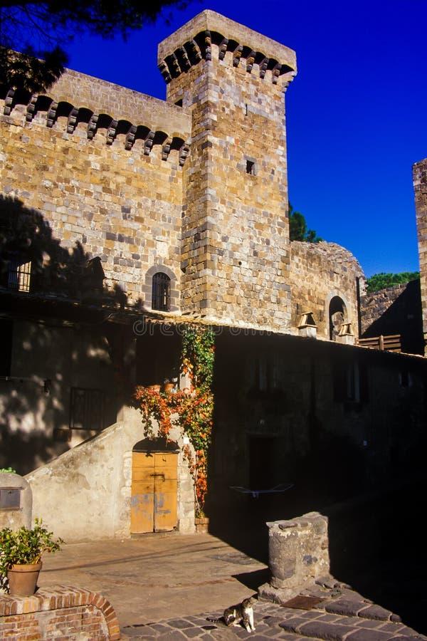 Bolsena, lazio, italy. Lake of Bolsena Italy - The medieval town with castle on Lake Bolsena, region Lazio, central Italy royalty free stock photo