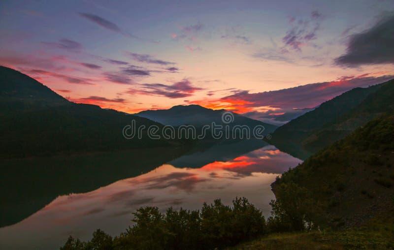Lake Borcka Dam. The Borcka Dam is on the Coruh River stock photos