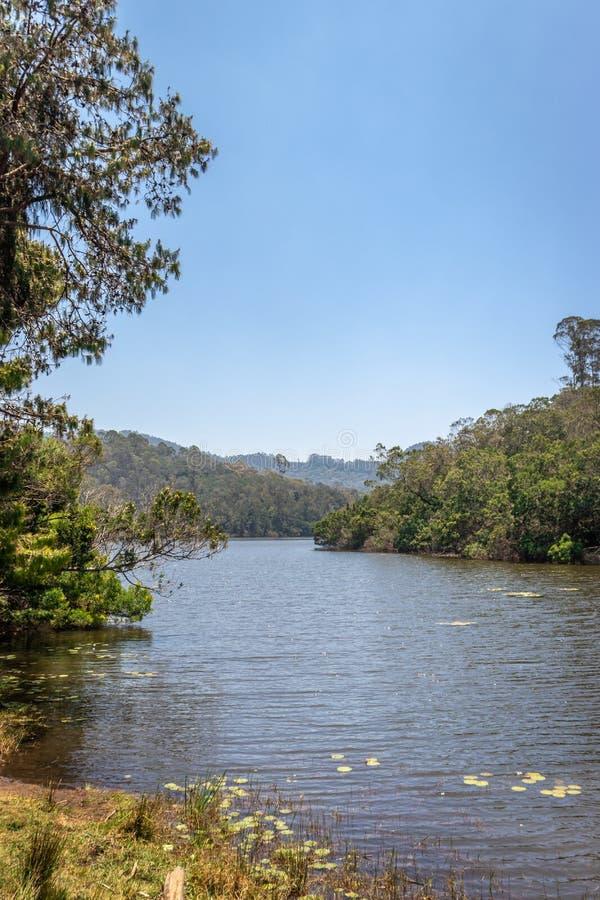 Lake Brijam at kodaikanal. Show the beautiful landscape stock image