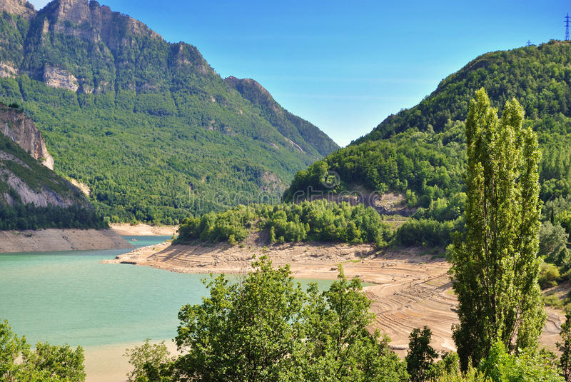 Lake of Bubal in the Pyrenees royalty free stock image