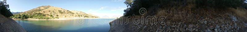 Lake on a calm WARM day stock photo